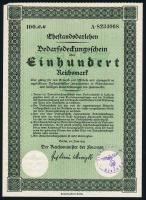 Ehestandsdarlehen 100 Reichsmark 1933 (2)