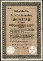 Ehestandsdarlehen 50 Reichsmark 1933 (2)
