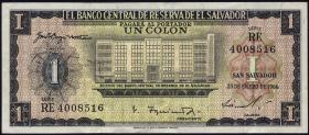 El Salvador P.100 1 Colon 1966 (3+)