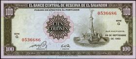 El Salvador P.137a 100 Colones 1983 (1)