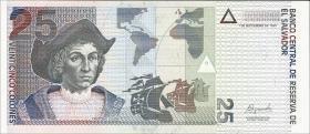 El Salvador P.155 25 Colones 1999 (1)