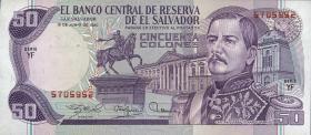 El Salvador P.131b 50 Colones 1980 (1)