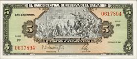 El Salvador P.134b 5 Colones 1988 (1)