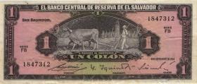 El Salvador P.105 1 Colone 1964 (3)