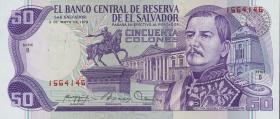 El Salvador P.131a 50 Colones 1979 (1)