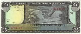El Salvador P.136 25 Colones 1983 (1)