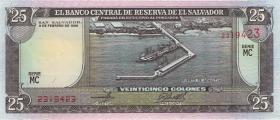 El Salvador P.142a 25 Colones 1996 (1)