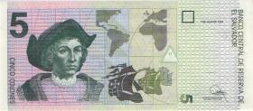 El Salvador P.147a 5 Colones 1997 (1)