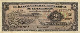 El Salvador P.101a 2 Colones 1962 (3)