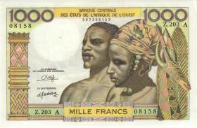 West-Afr.Staaten/West African States P.103An 1000 Francs (1959-65) (1/1-)