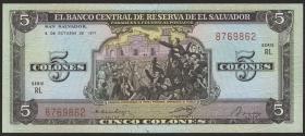 El Salvador P.126a 5 Colones 1977 (1)