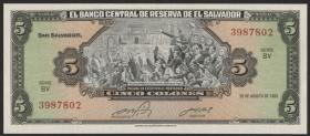El Salvador P.134a 5 Colones 1983 (1)