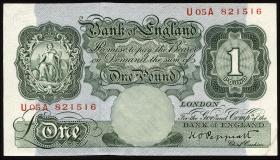 Großbritannien / Great Britain P.369a 1 Pound (1948-60) (2/1)