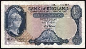 Großbritannien / Great Britain P.372 5 Pounds (1961-63) (3)