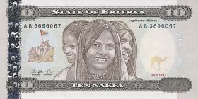 Eritrea P.3 10 Nakfa 1997 (1)