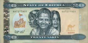 Eritrea P.12 20 Nakfa 2012 (2014) (1)