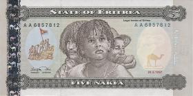 Eritrea P.02 5 Nakfa 1997 (1)