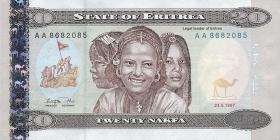 Eritrea P.04 20 Nakfa 1997 (1)