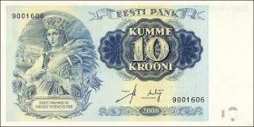 Estland / Estonia P.90 10 Kronen 2008 Staatsgründung (1)