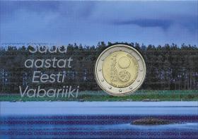 Estland 2 Euro 2018 100 Jahre Republik Coincard