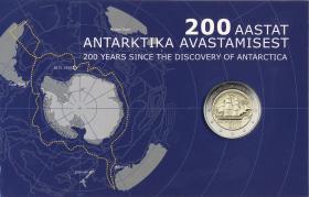 Estland 2 Euro 2020 100 Jahre Entdeckung der Antarktis Coincard