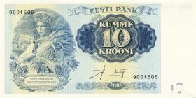 Estland / Estonia P.90 10 Kronen 2008 Staatsgründung/ Folder