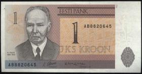 Estland / Estonia P.69a 1 Krone 1992 (1)