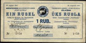 Estland / Estonia ES13a: 1 Rubel 1941 (3)