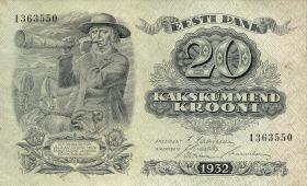 Estland / Estonia P.64a 20 Kronen 1932 (1/1-)