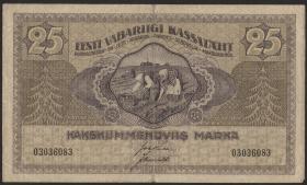 Estland / Estonia P.47 25 Marka 1919 (3)