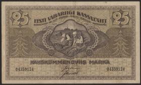 Estland / Estonia P.47b 25 Marka 1919 (3+)