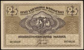 Estland / Estonia P.47b 25 Marka 1919 (1-)