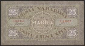 Estland / Estonia P.54a 25 Marka 1922 (3+)