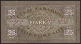 Estland / Estonia P.54c 25 Marka 1922 A (1)