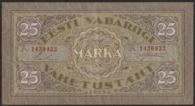 Estland / Estonia P.54c 25 Marka 1922 A (2)