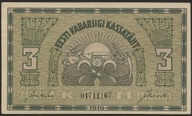 Estland / Estonia P.44 3 Marka 1919 (1/1-)