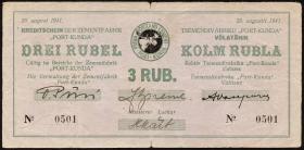 Estland / Estonia ES14a: 3 Rubel 1941 (3-)