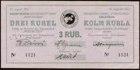 Estland / Estonia ES14a: 3 Rubel 1941 (3+)