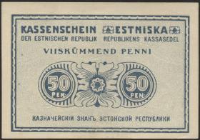 Estland / Estonia P.42 50 Penni (1919) (1)