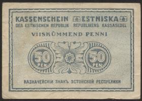 Estland / Estonia P.42 50 Penni (1919) (3)