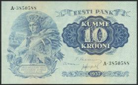 Estland / Estonia P.67a 10 Kronen 1937 (1)