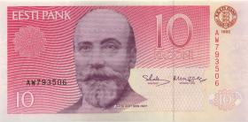Estland / Estonia P.72b 10 Kronen 1992 (1)