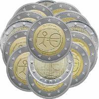 2 Euro 2009 WWU, komplett 15 Ausgaben (ohne Deutschland)