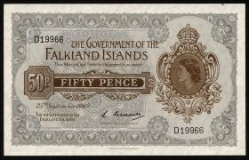 Falkland Inseln P.10a 50 Pence 1969 (1/1-)
