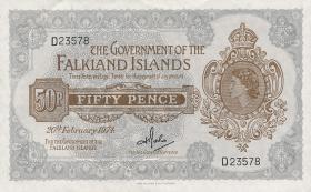 Falkland Inseln P.10b 50 Pence 1974 (2)