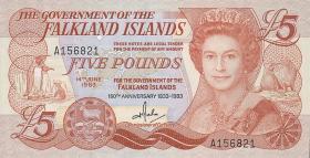 Falkland Inseln P.12 5 Pounds 1983 Jubiläum (2)