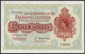 Falkland Inseln P.09a 5 Pounds 1960 (1/1-)