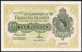 Falkland Inseln P.11a 10 Pounds 1975 (1)