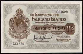 Falkland Inseln P.04 10 Shillings 1938 (1)