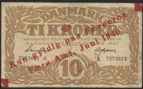 Färöer Inseln / Faeroe Is. P.03 1 Krone 1940 (3/4)